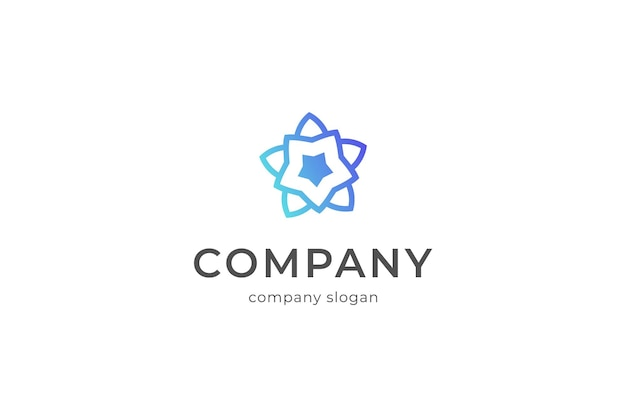 Простая звезда логотип шаблон вектор икона illlustration