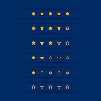 Simple star rating symbol design