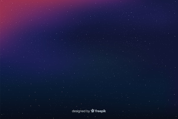 Simple starry night background in gradient
