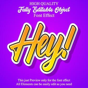 Простые наклейки с редактируемым эффектом шрифта