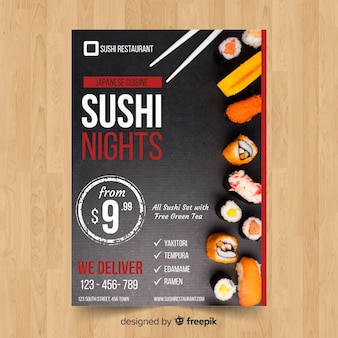 Simple sushi flyer