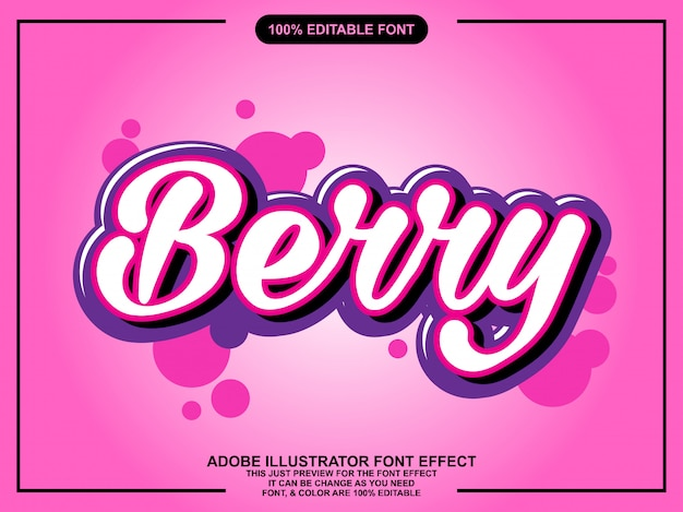 Simple sweet berry font effect