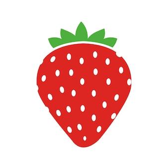 シンプルな甘いイチゴのアイコン