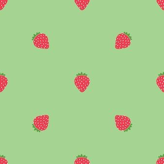 간단한 달콤한 딸기 원활한 패턴 배경