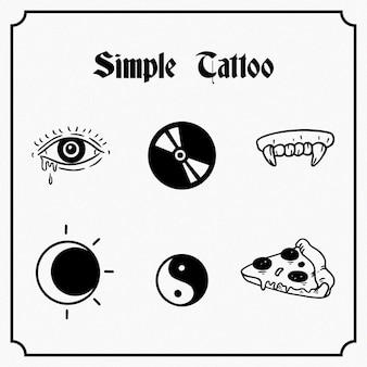 シンプルなタトゥー