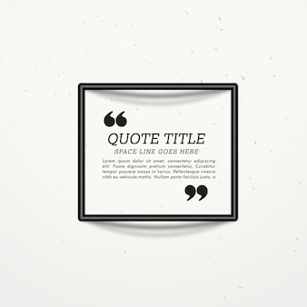 Simple template for text with a black frame