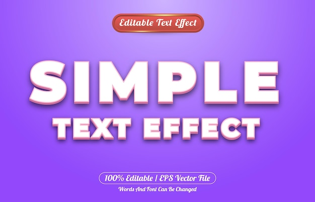 Simple text effect editable text effect style template