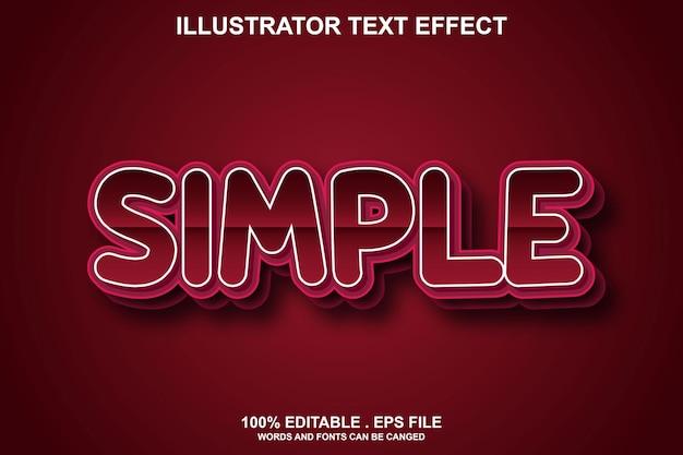 Простой текстовый эффект редактируемый