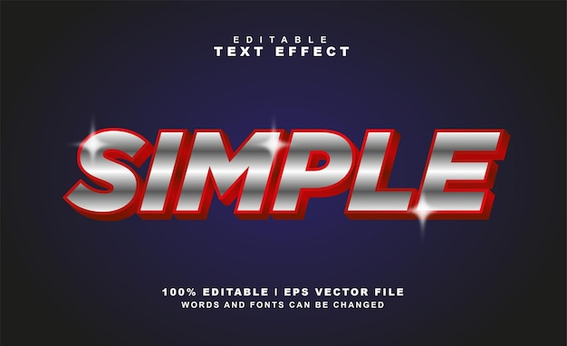 Simple text effect free eps vector