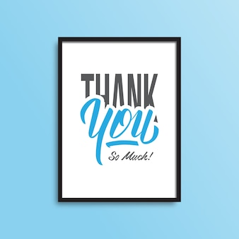 Simple thank you typography