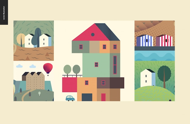Simple things - houses composition