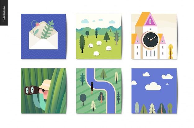 Simple things, postcards