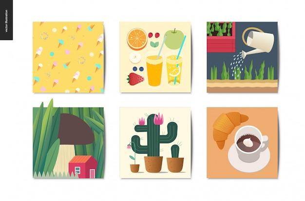 Simple things postcards