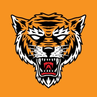 A simple tiger head   perfect for mascot or logo