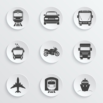 Simple transport icons set.