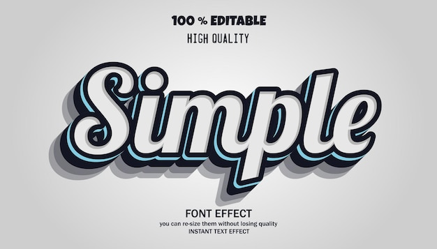 Simple and trendy text effect
