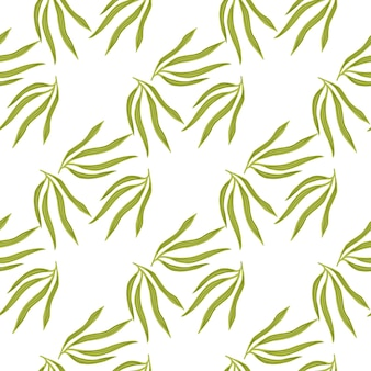 간단한 열대 잎 semless 패턴입니다. 이국적인 하와이 벽지.