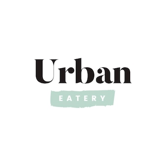 Simple urban eatery logo vector