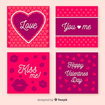 Simple valentine's day cards collection