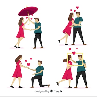 Simple valentine's day couple collection