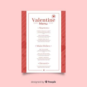 Simple valentine's day menu