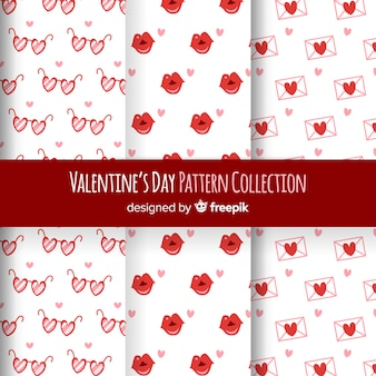 Simple valentine's day pattern pack