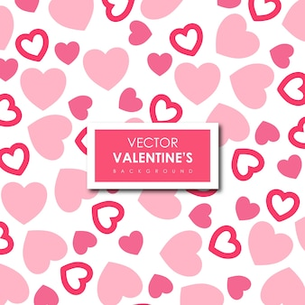 Simple Valentine's Vector Hearts Background