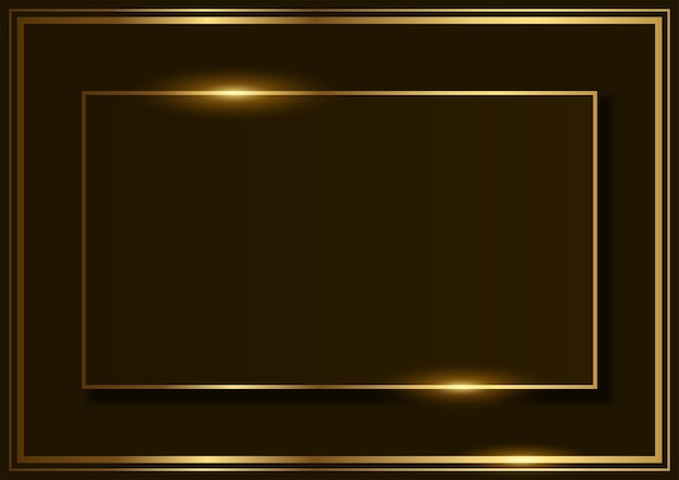Simple vector background of rectangle shape with golden frame