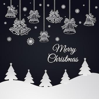 シンプルなベクトルのクリスマスの背景