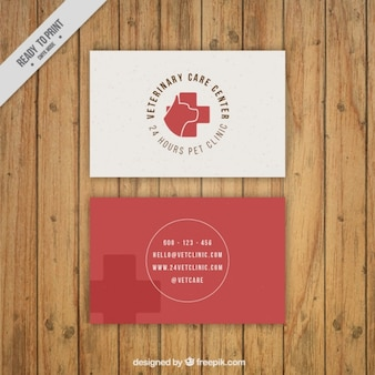 Simple veterinary clinic card