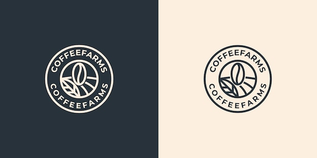 Simple vintage coffee farms logo design inspiration