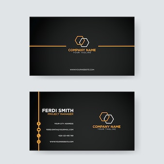 Simple visit business card