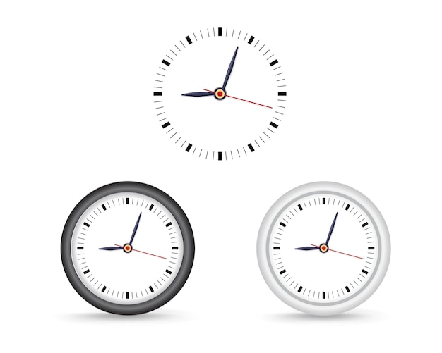 Simple wall clock. mock-up for branding and advertise