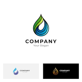 Simple water drop logo isolated on white