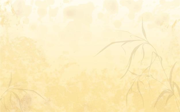 葉の影とシンプルな水彩画の背景