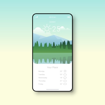 Simple weather app user interface