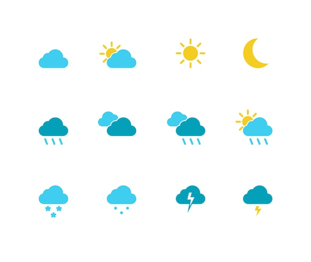 Simple weather icon set