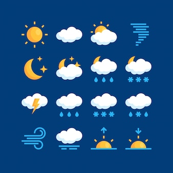 Simple weather illustration  in flat style
