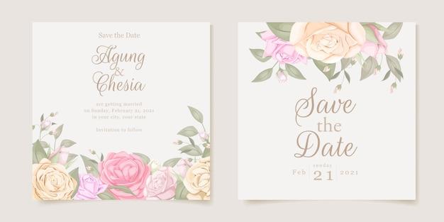 Simple wedding invitation concept instagram post
