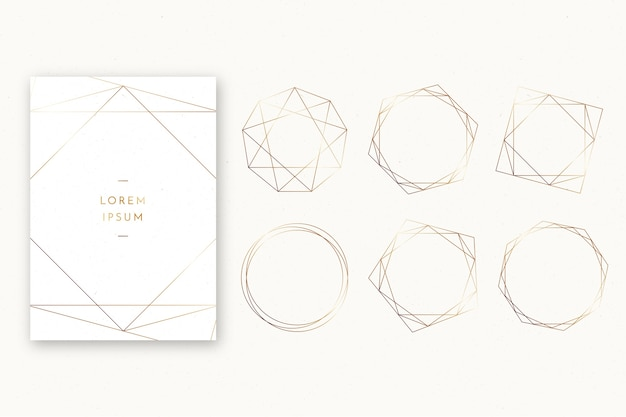 Simple wedding polygonal frame collection