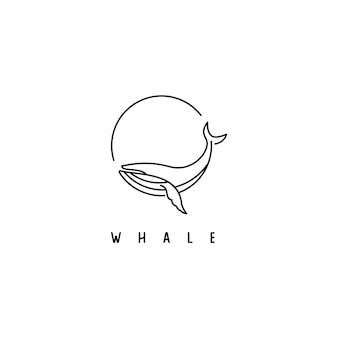 Simple whale logo design