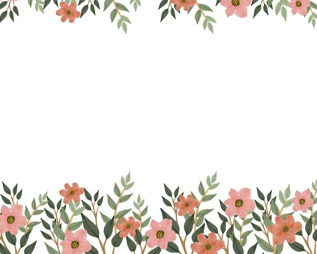 Simple white background with orange flower