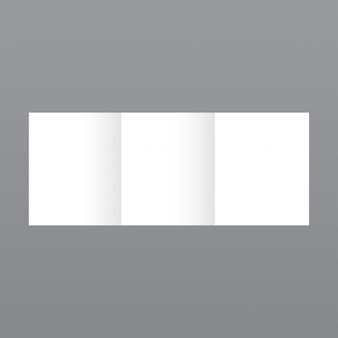 Simple white brochure template on grey background