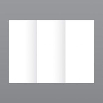 Simple white brochure template