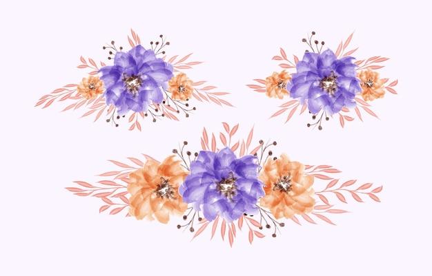 Простой белый шаблон свадебного приглашения с красивой цветочной акварелью