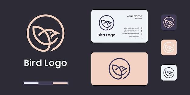 간단한 들새 라인 로고 디자인 템플릿입니다.