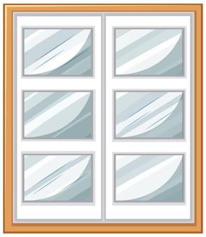 白い背景で隔離のシンプルなウィンドウ