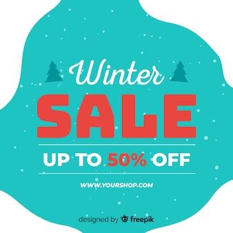 シンプルな冬の販売の背景