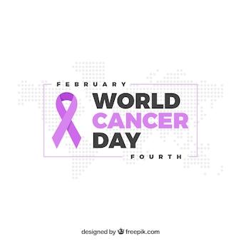 Semplice disegno del giorno del cancro del mondo