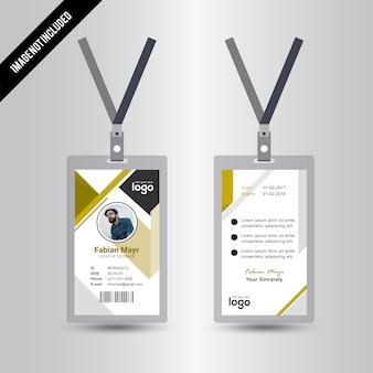 Simple Yellow Id Card Design